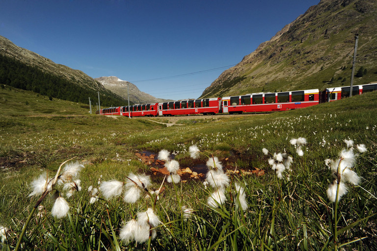 [Translate to English:] Bernina Express © Rhätische Bahn Swiss
