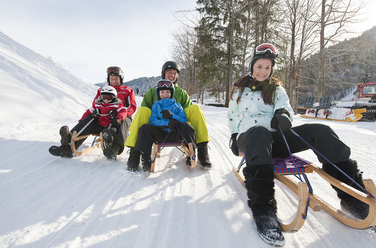 Sledge ride at the Golm © Montafon Tourismus - Illwerke Tourismus