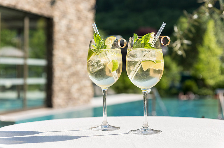 Aperitif in the Summer at the sun terrace