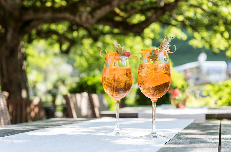 You can enjoy your aperitif on the terrace before dinner