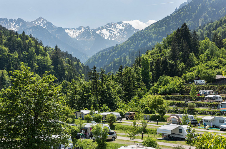 Camping in Nenzing central located in the Alps of Vorarlberg